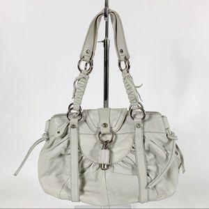 FRANCESCO BIASIA White Leather Shoulder Bag